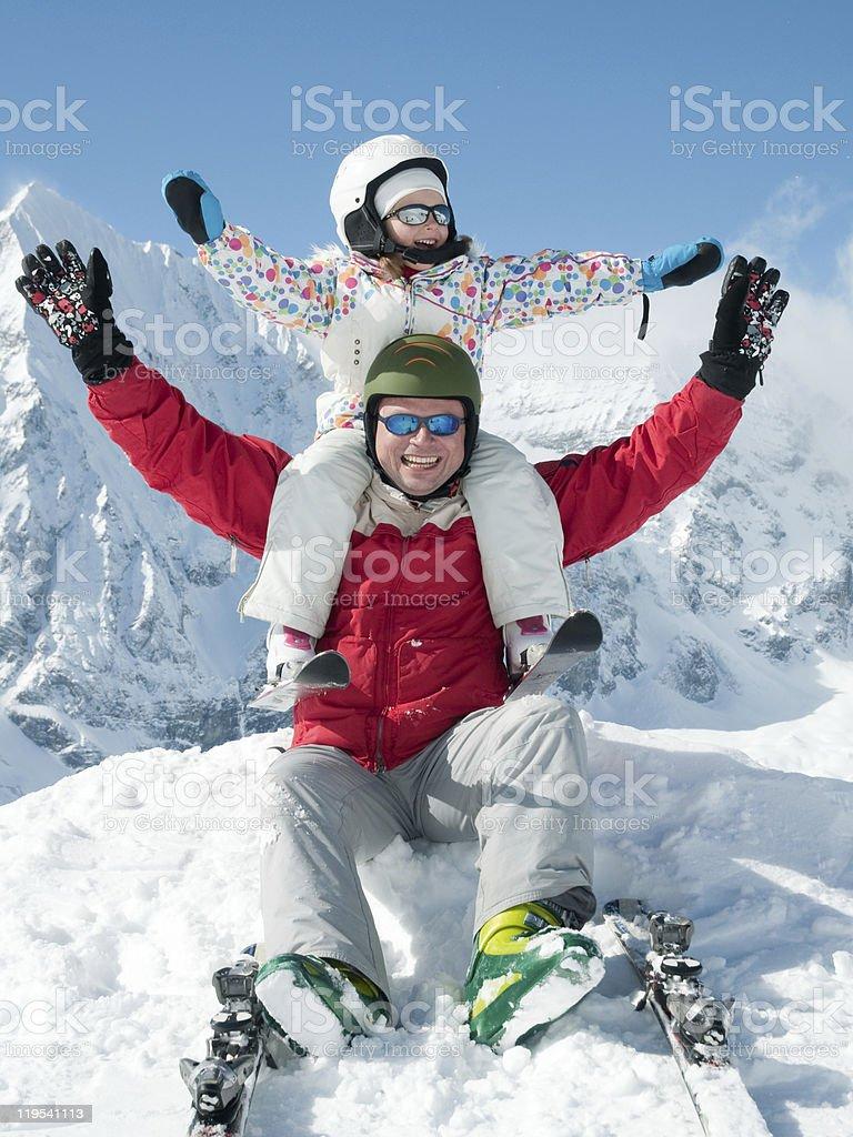 Winter euphoria royalty-free stock photo