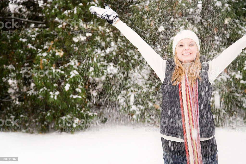 Winter Excitement royalty-free stock photo