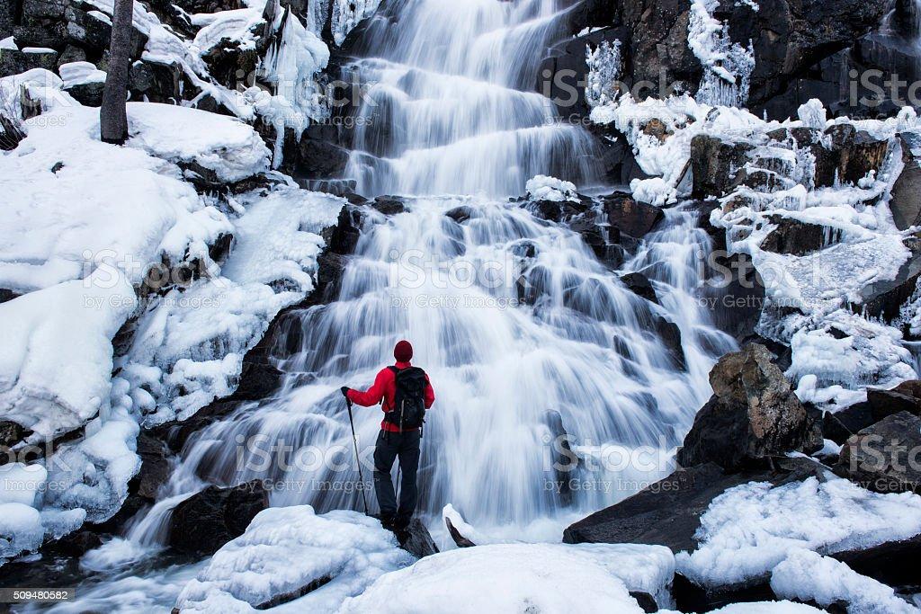 winter explorer stock photo