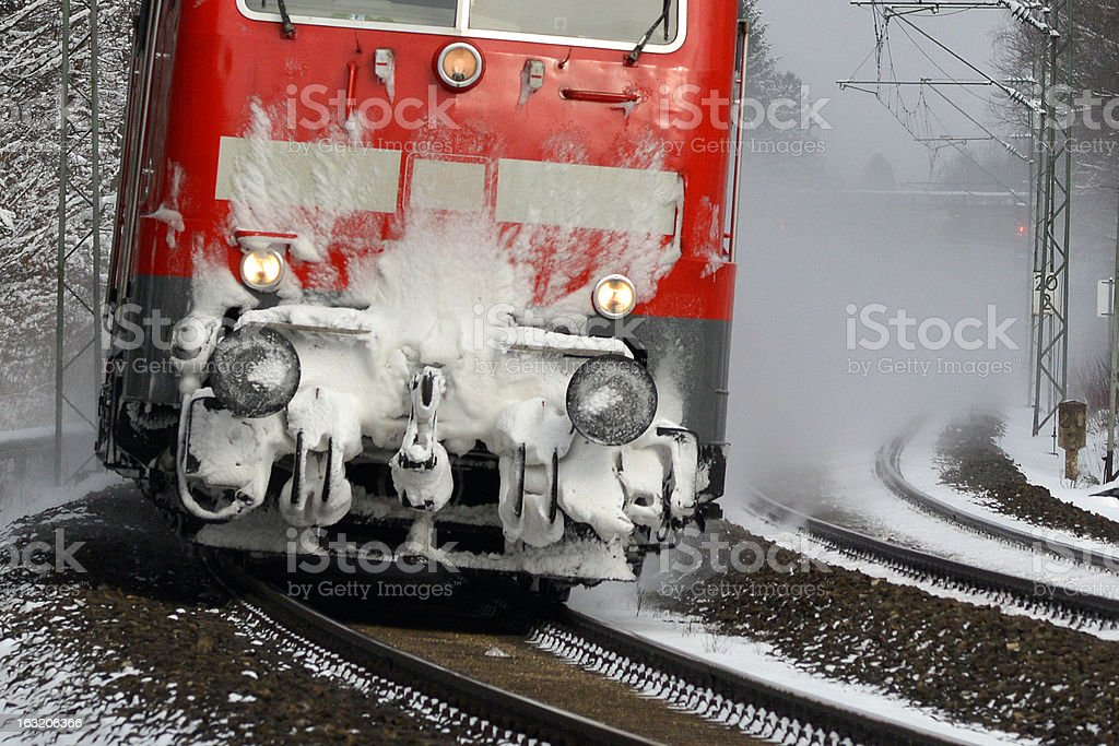 Winter Express stock photo