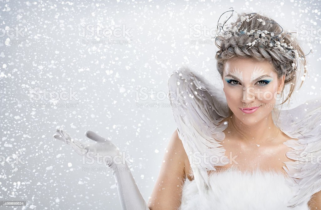 winter fairy stock photo