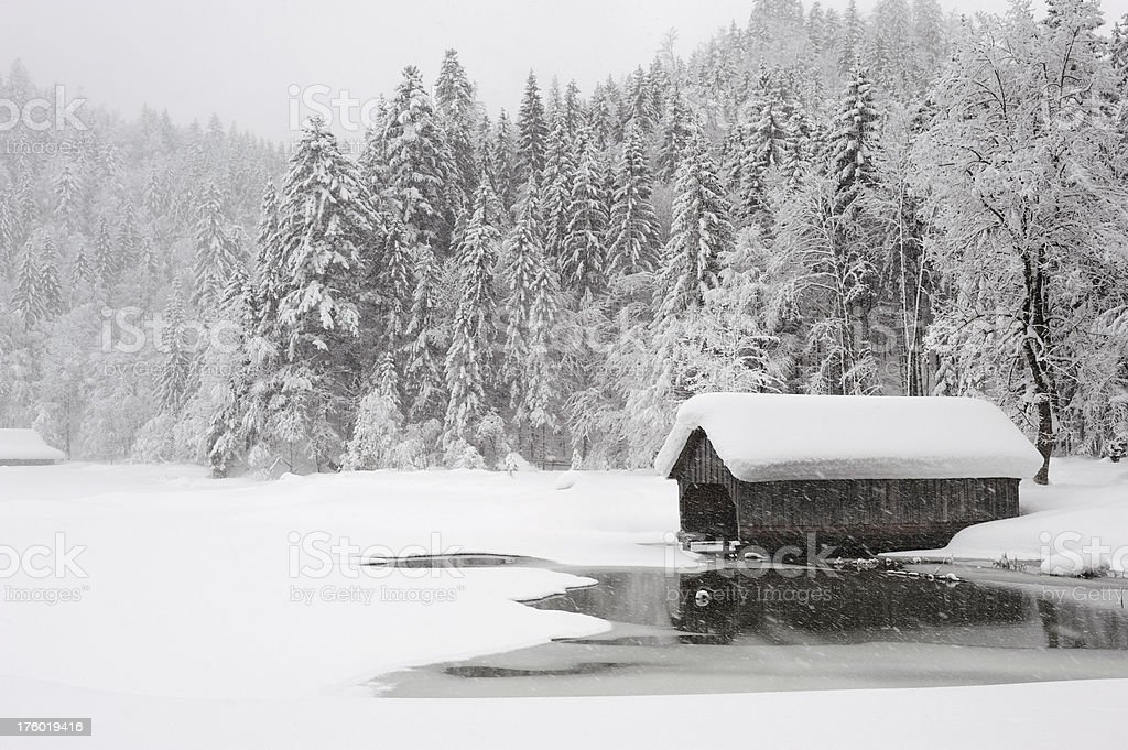 Winter Fairy Tale - Toplitzsee royalty-free stock photo
