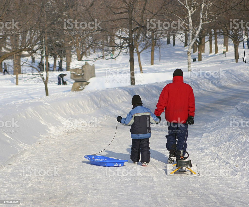 Winter Family Activity royalty-free stock photo
