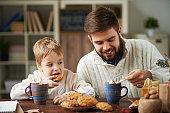 Winter family breakfast