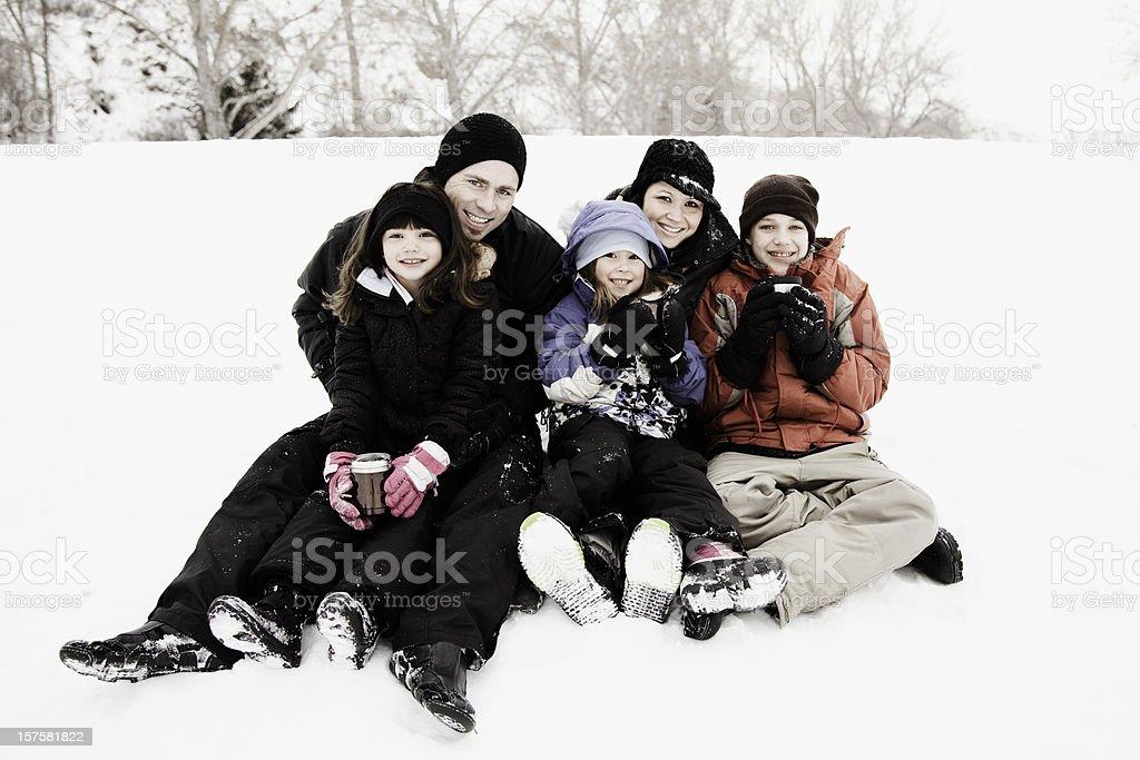 Winter Family royalty-free stock photo