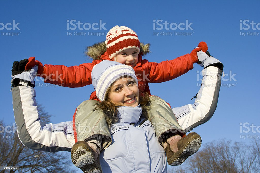 Winter family portrait royalty-free stock photo