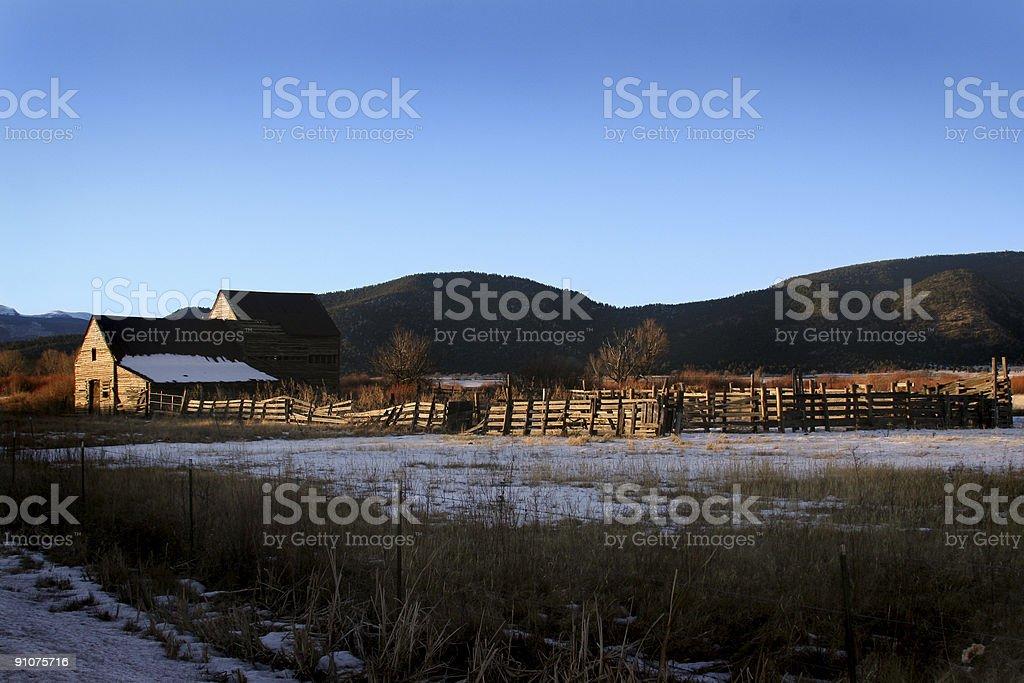 winter farm royalty-free stock photo