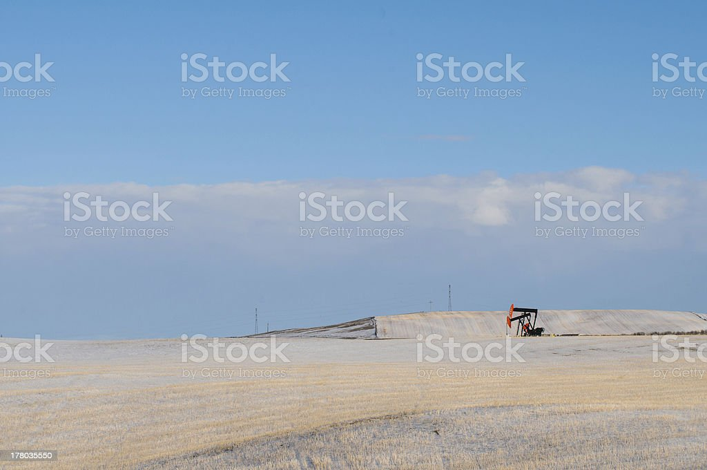 Winter Farmland royalty-free stock photo