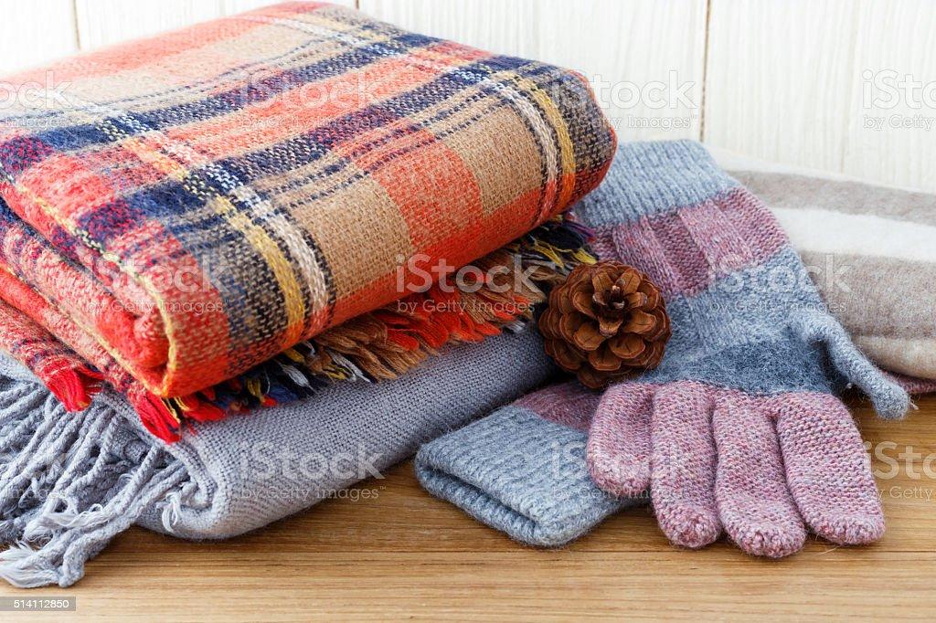 Winter fashion clothing stock photo