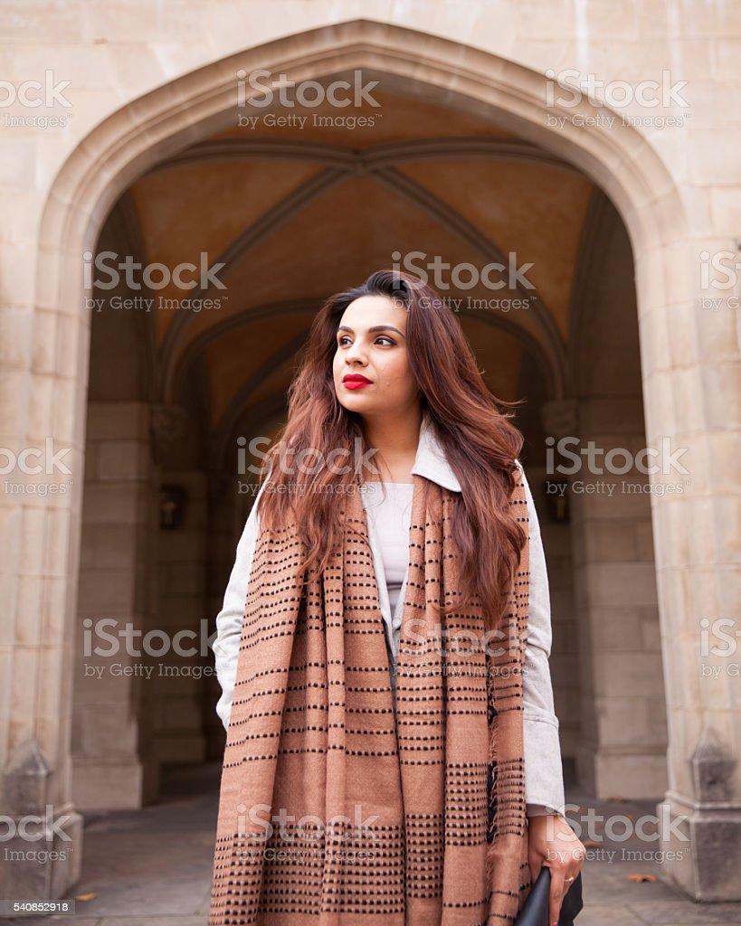 Winter Fashion Look stock photo