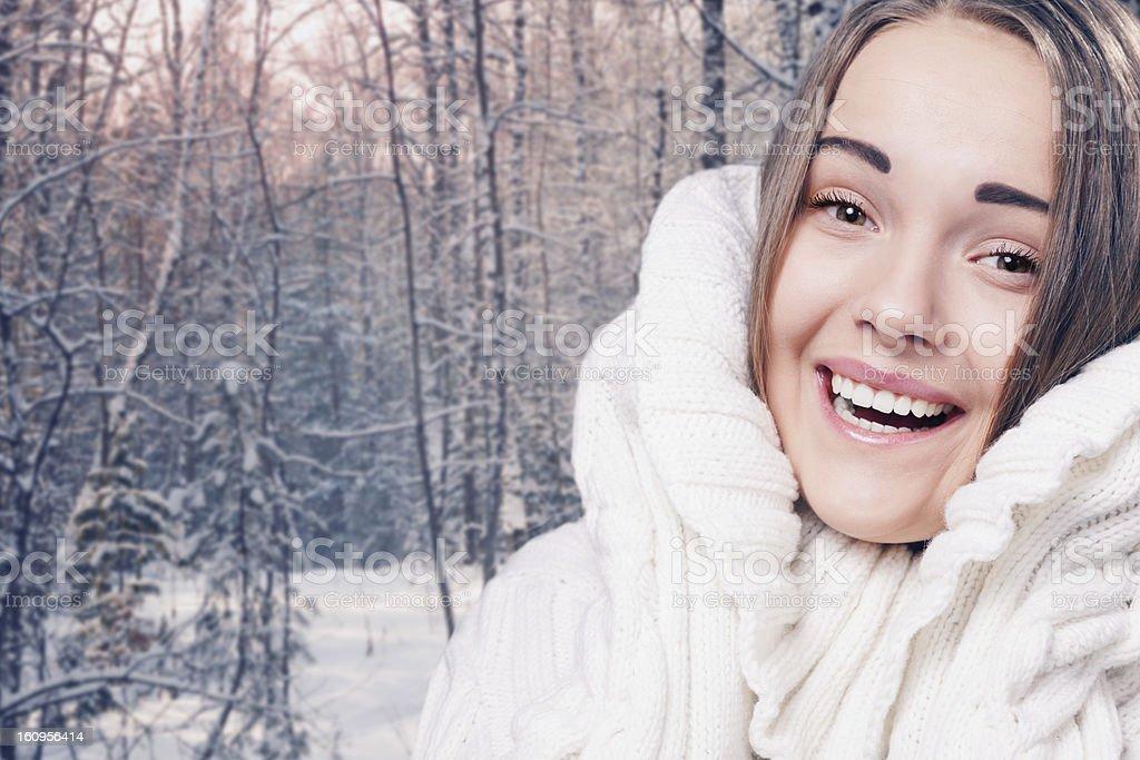 winter female portrait royalty-free stock photo