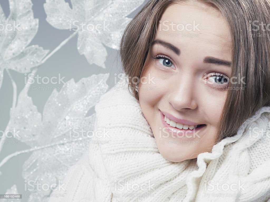 winter female portrait royalty-free stock photo