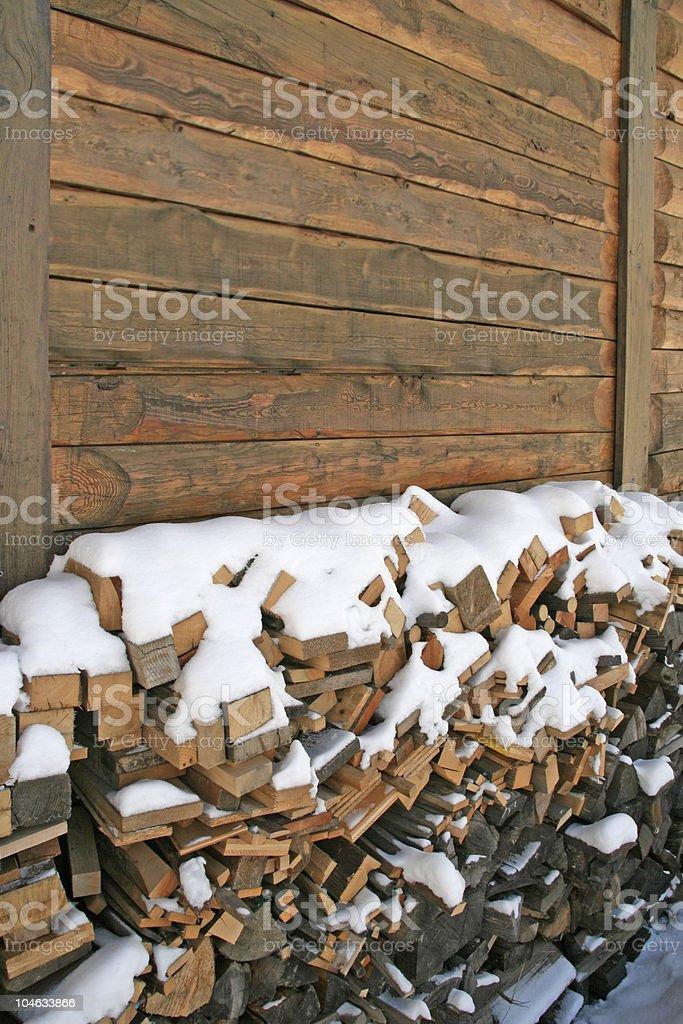 Winter Firewood stock photo