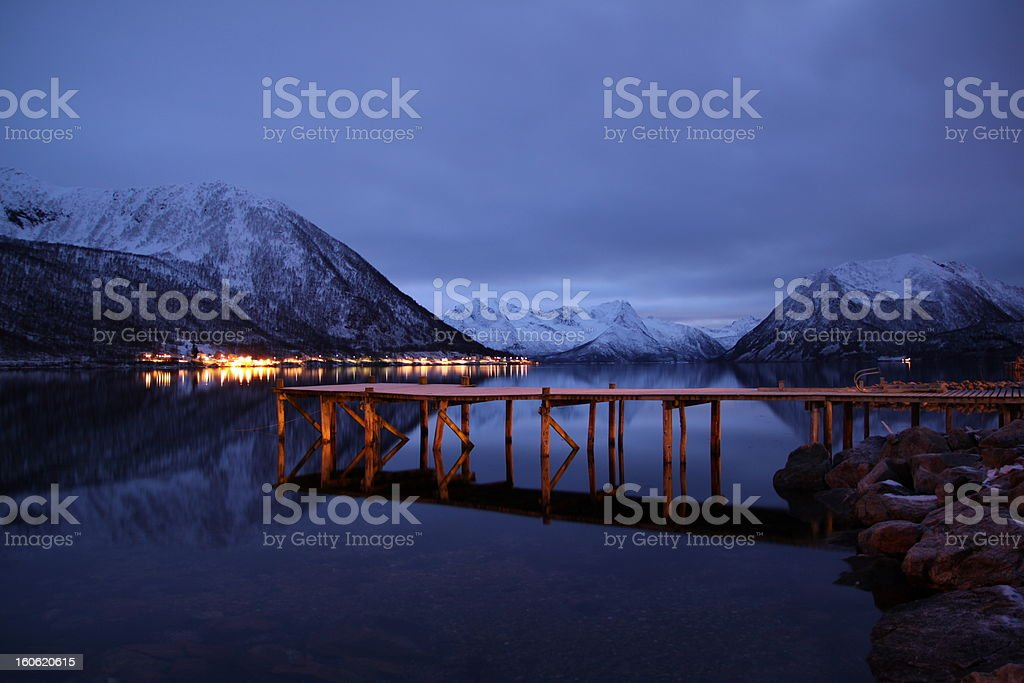 Winter Fjord royalty-free stock photo