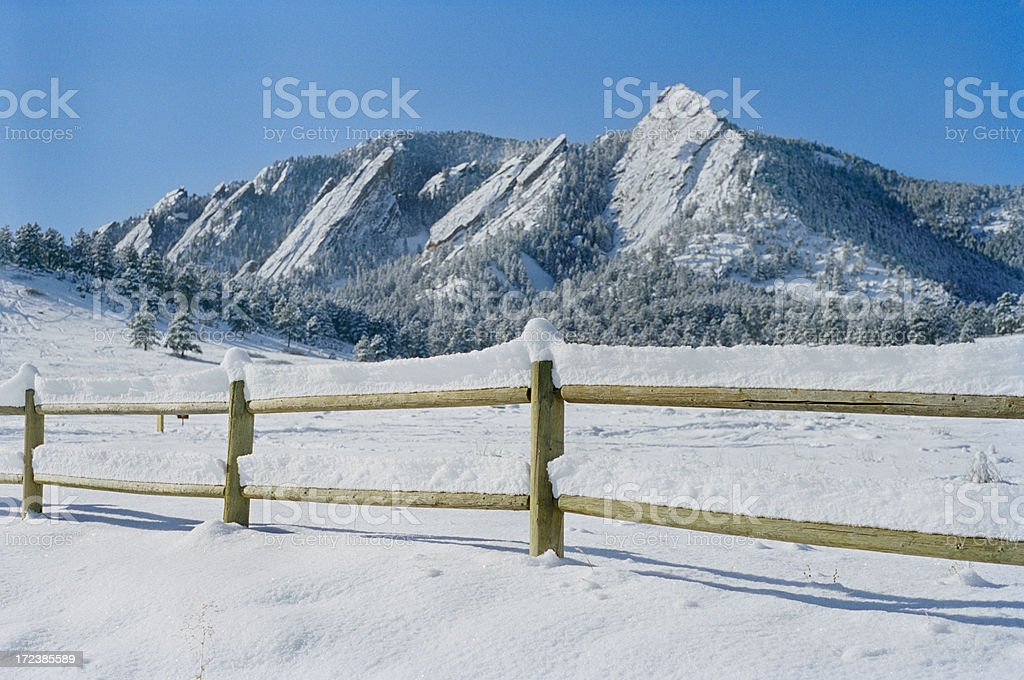 Winter Flatirons 004 royalty-free stock photo