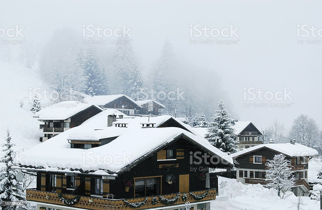 Winter fog royalty-free stock photo