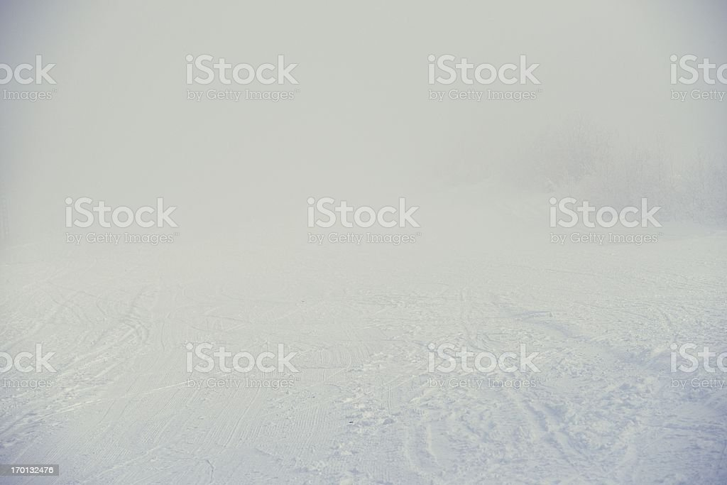 Winter fog royalty-free stock photo