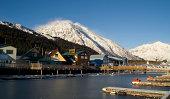 Winter Freeze Resurrection Bay Seward Alaska Docks Marina Boardwalk