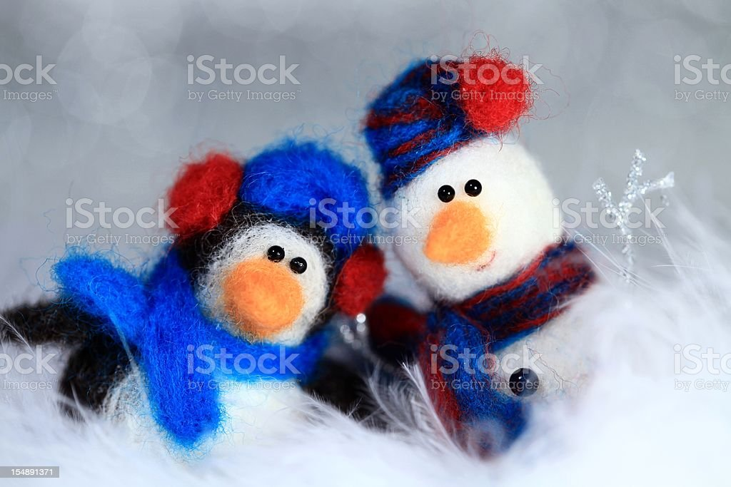 Winter Friends stock photo