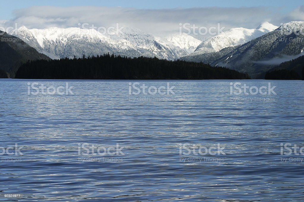 Winter from the Water royalty-free stock photo