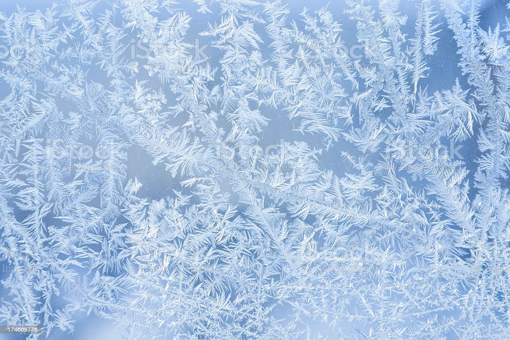 Winter Frost Ice Pattern Texture Background Close-up Macro stock photo