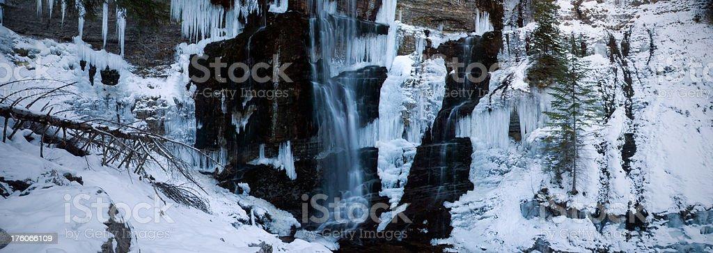 Winter Frozen Waterfall (XXXL) stock photo