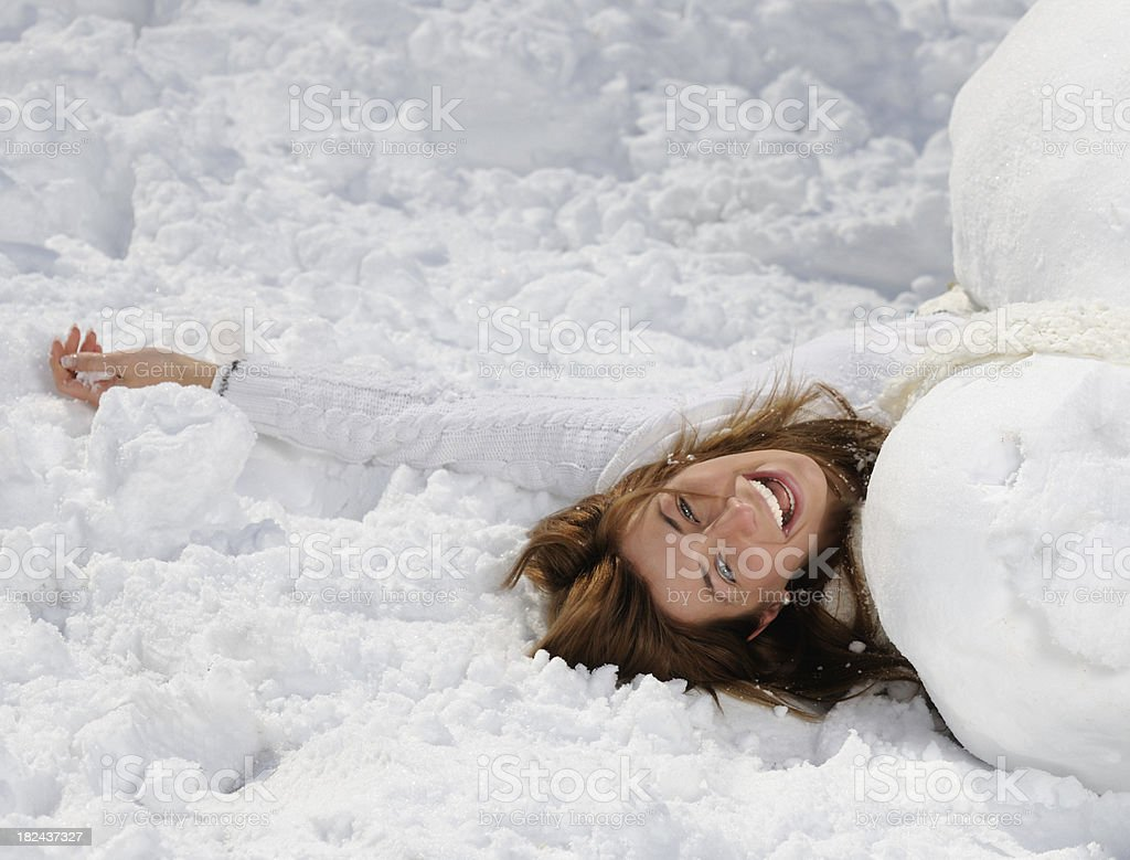 Winter Fun - Covered up with Snow royalty-free stock photo