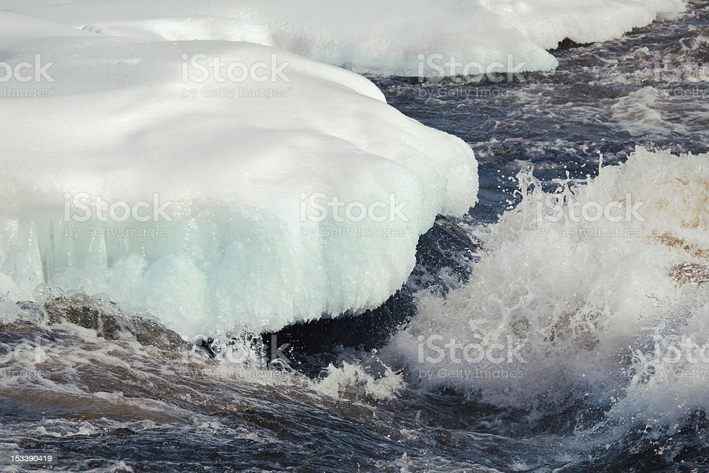 Winter Fury stock photo