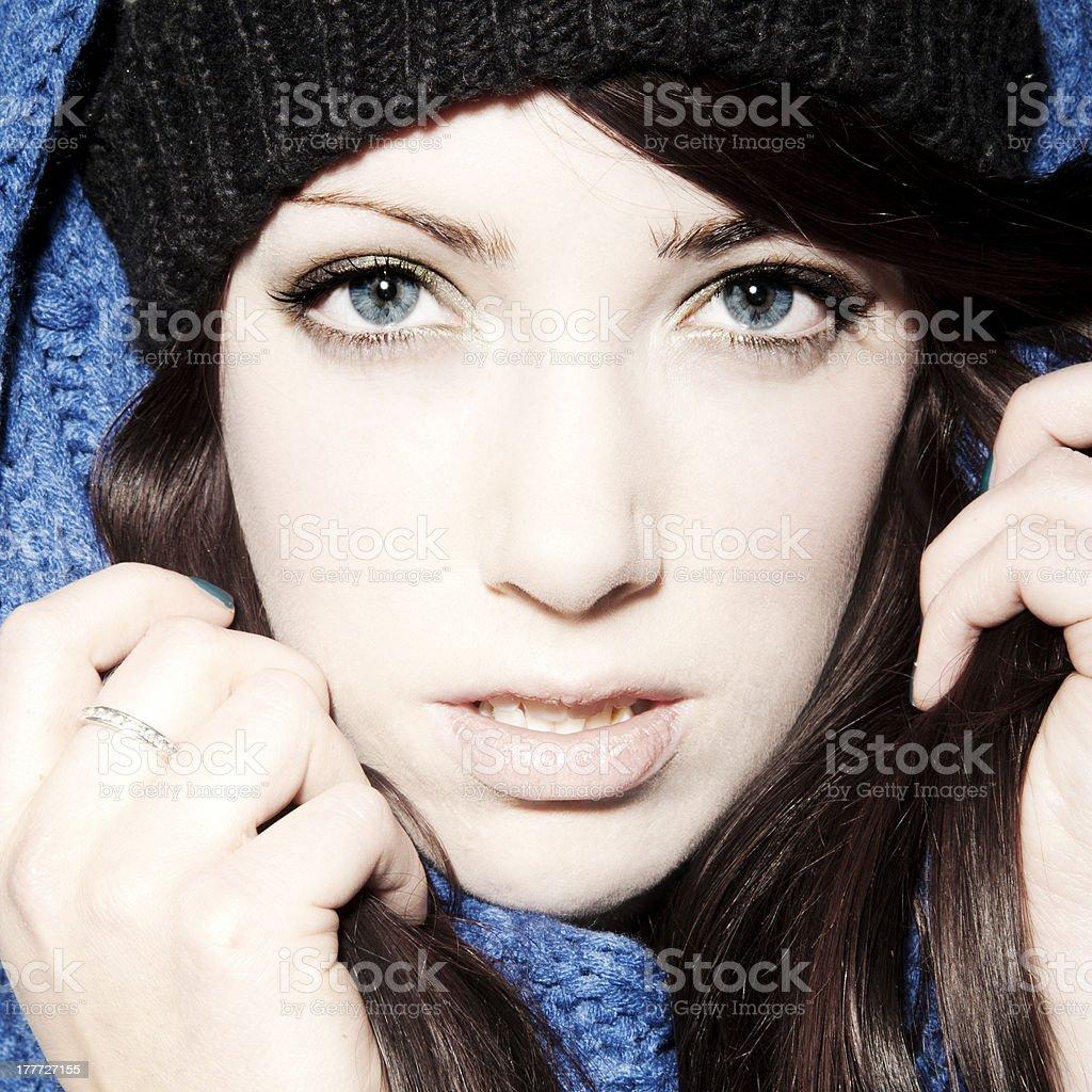 Winter Girl stock photo