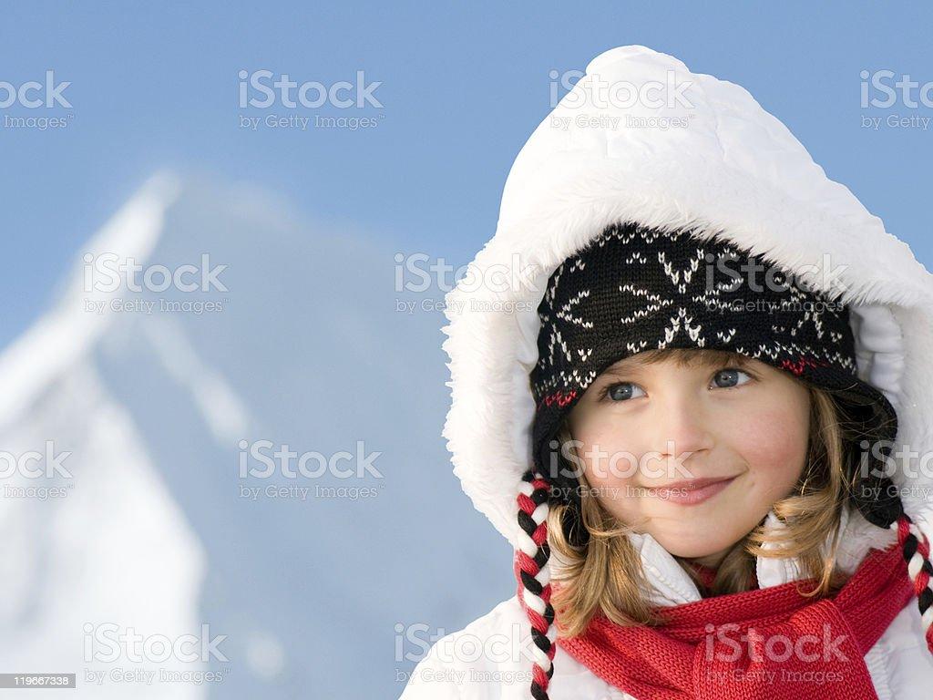 Winter girl portrait stock photo