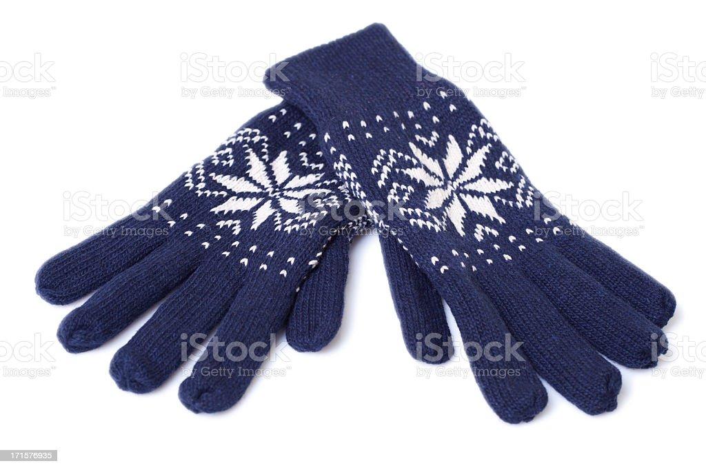 Winter gloves stock photo