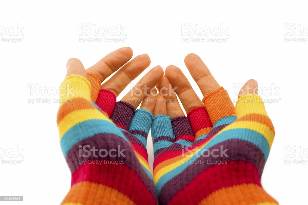 Winter gloves royalty-free stock photo