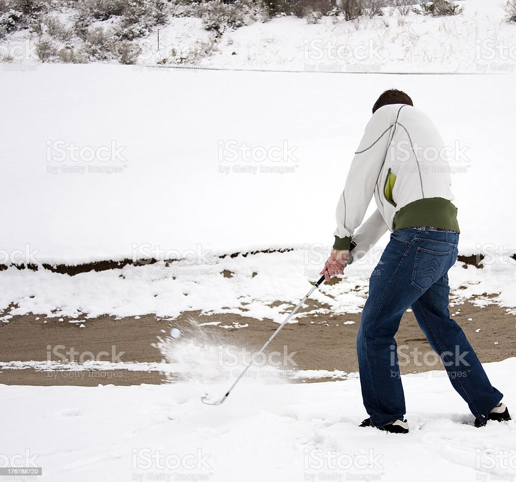 Winter Golf royalty-free stock photo