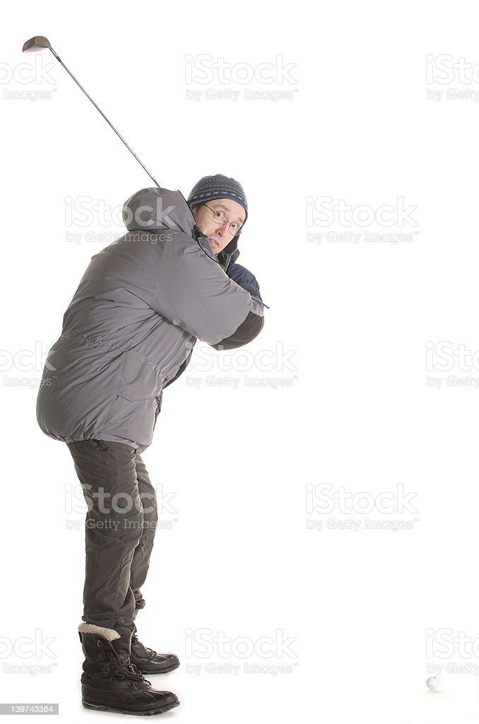 winter golfer 003 royalty-free stock photo