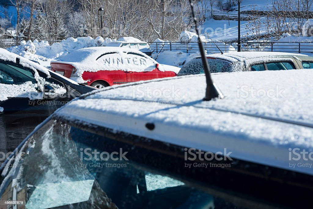 Winter has arrived stock photo