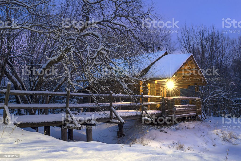 Winter has come. stock photo