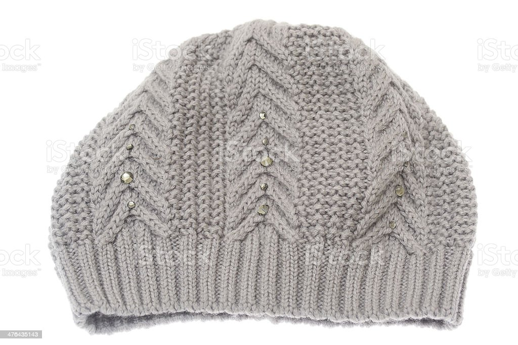 Winter hat isolated on white background. royalty-free stock photo