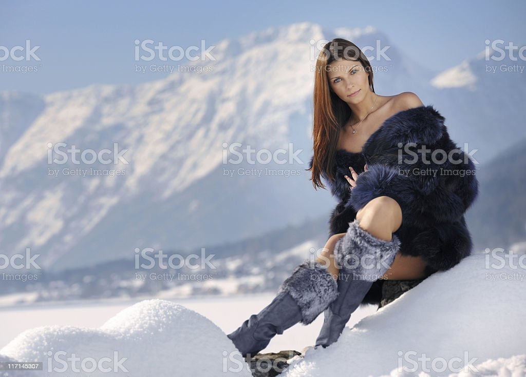 Winter Haute Couture royalty-free stock photo
