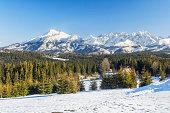 Winter High Tatra Mountains landscape