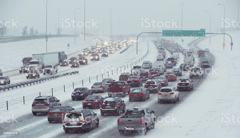 Winter Highway Driving stock photo