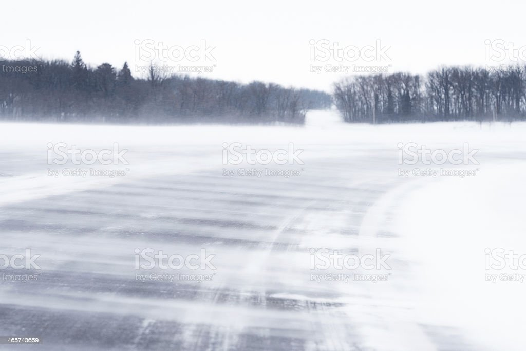 Winter Highway royalty-free stock photo