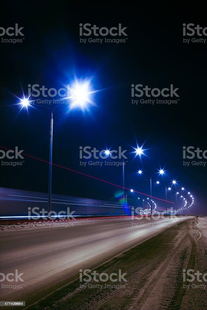 winter highway stock photo