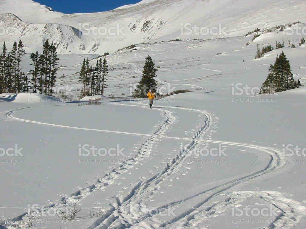 Winter Hiker royalty-free stock photo