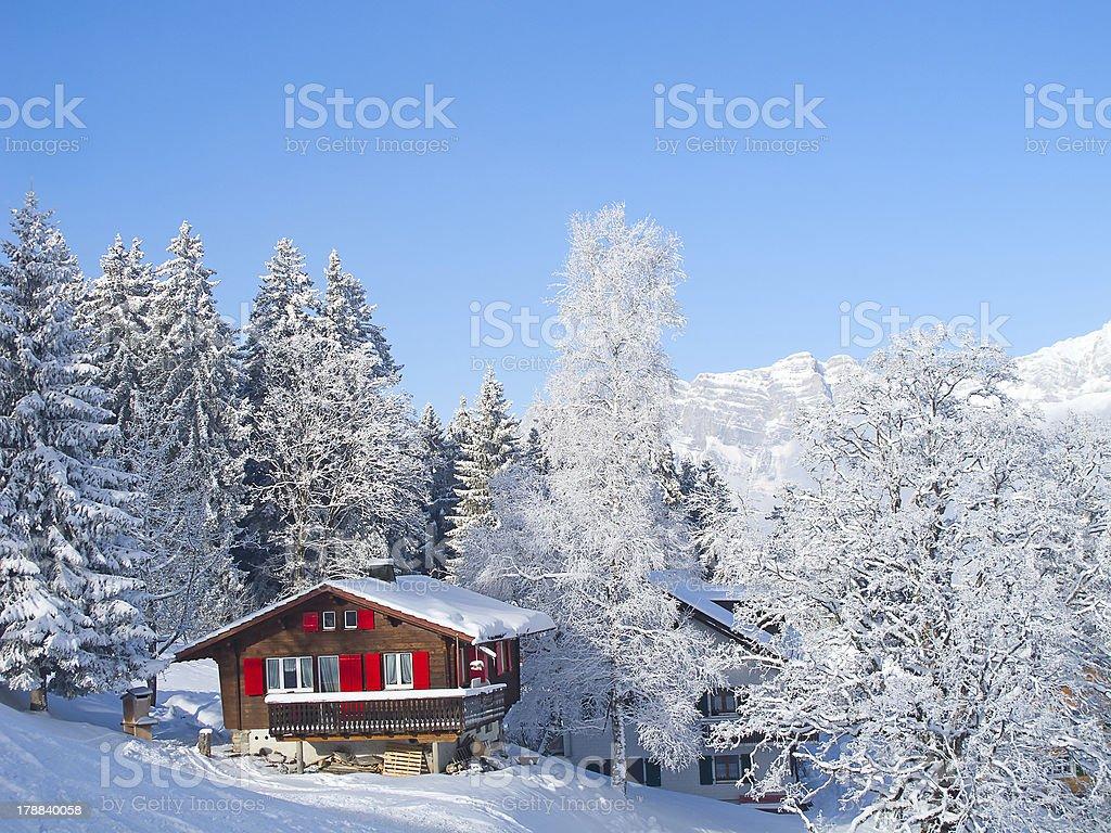 Winter holiday house royalty-free stock photo