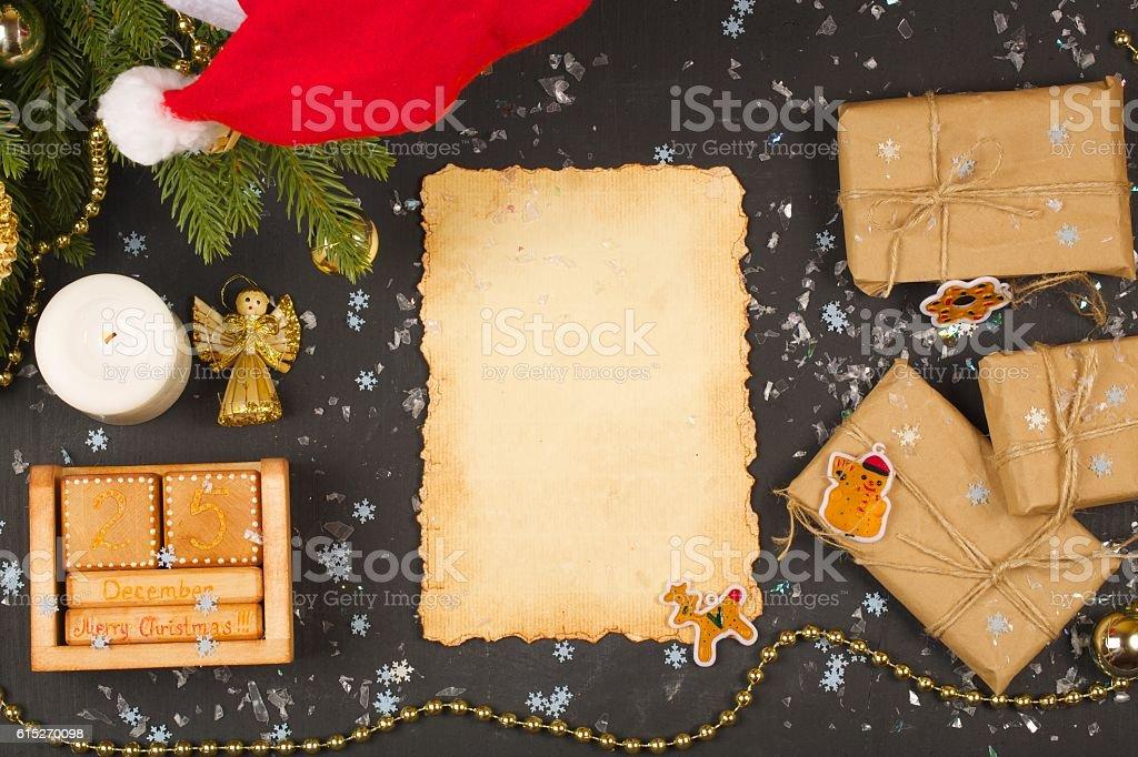 Winter holidays background stock photo