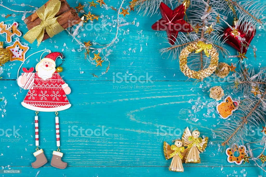 Winter holidays background stock photo