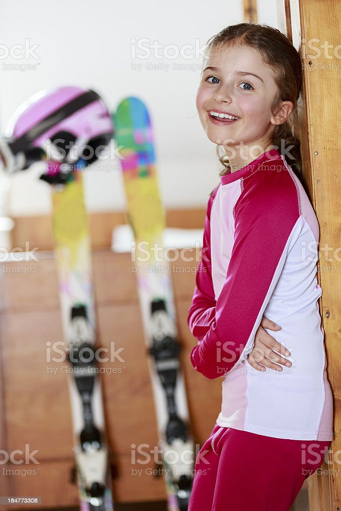 Winter holidays in a room apart stock photo