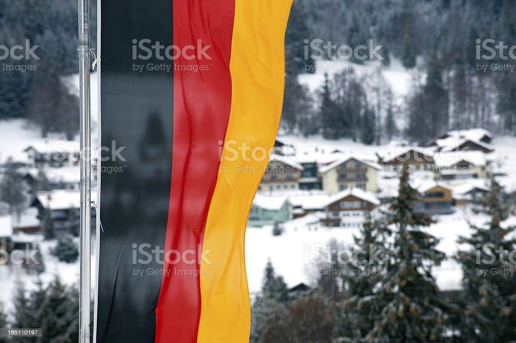 Winter holidays in Germany stock photo