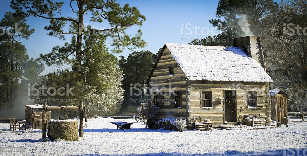 Winter Home on Holiday stock photo