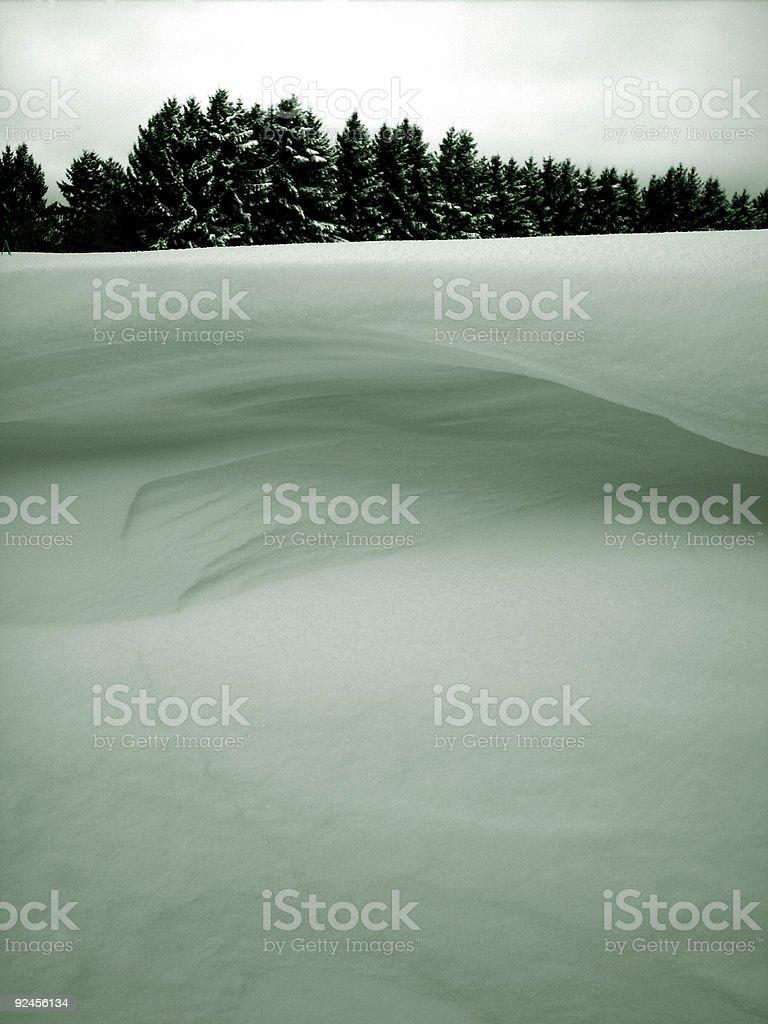 Winter horizon stock photo